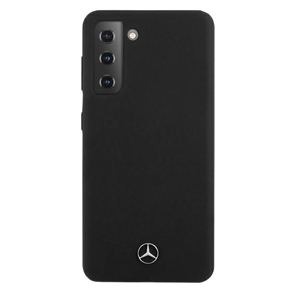 Mercedes silikónový kryt na Samsung Galaxy S21 Plus Čierny