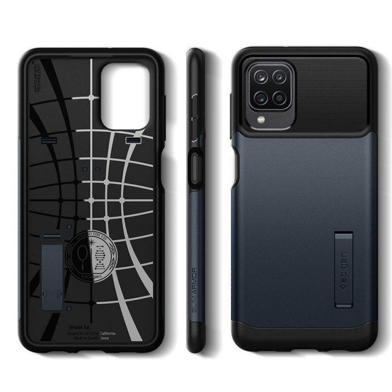 Slim Armor kryt na Samsung Galaxy A12 Metal Slate