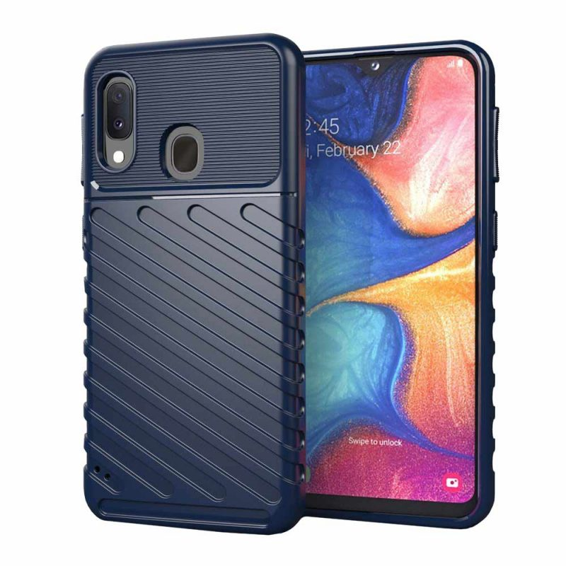 Thunder kryt na Samsung Galaxy A20e Modrý