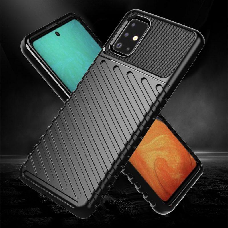 Thunder ochranný kryt na Samsung Galaxy A51 Čierny