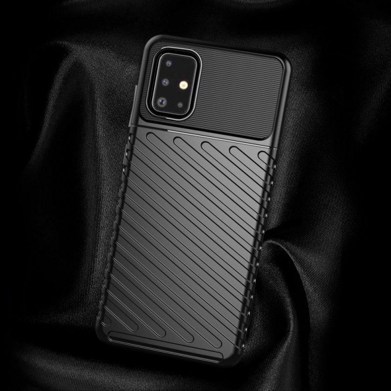 Thunder ochranný kryt na Samsung Galaxy A71 Čierny