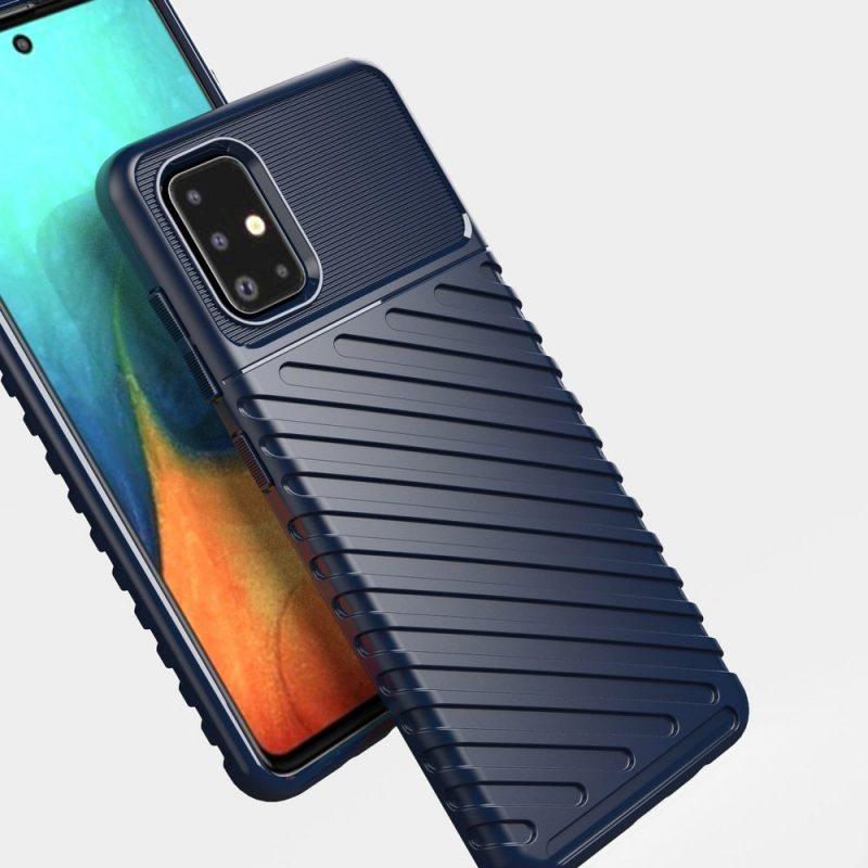 Thunder ochranný kryt na Samsung Galaxy A71 Modrý