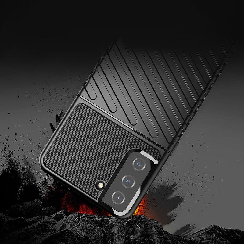 Thunder ochranný kryt na Samsung Galaxy S21 Plus Čierny