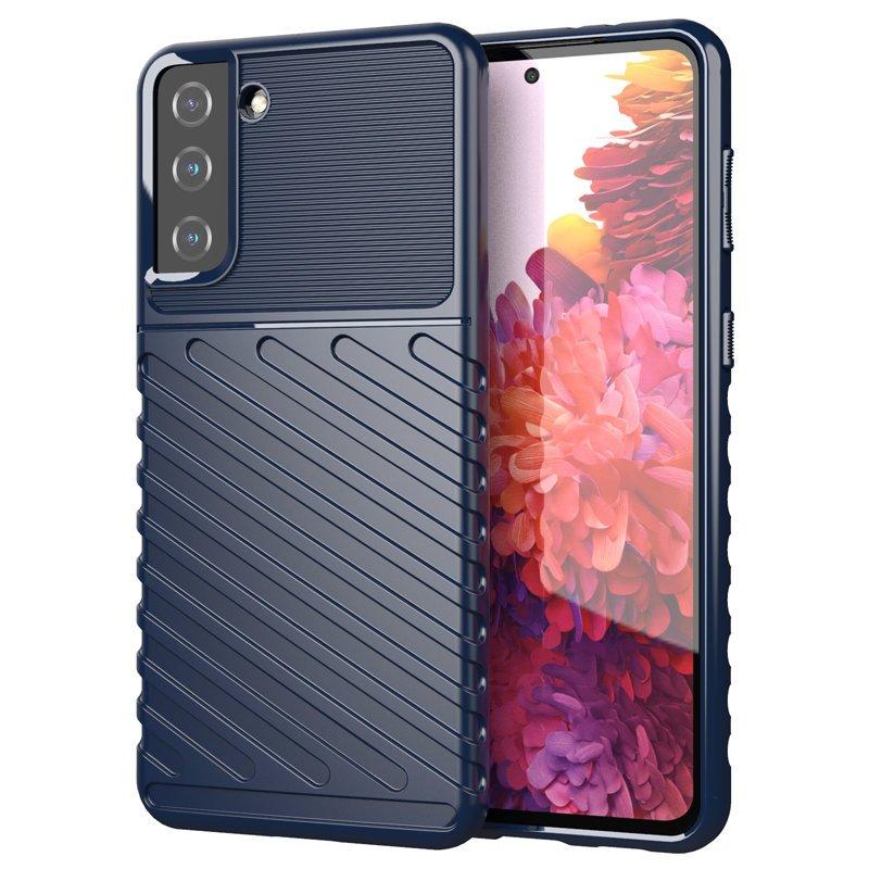 Thunder ochranný kryt na Samsung Galaxy S21 Plus Modrý