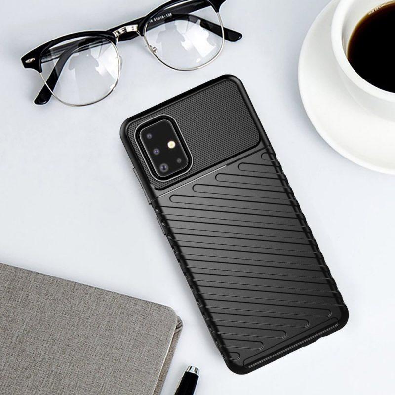 Thunder ochranný kryt na Samsung Galaxy A21S Čierny