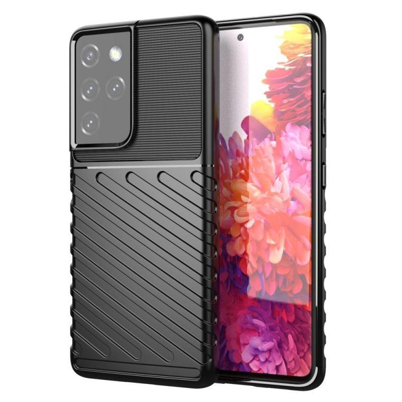 Thunder ochranný Kryt na Samsung Galaxy S21 Ultra Čierny