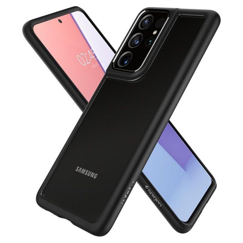 Ultra Hybrid kryt na Samsung Galaxy S21 Ultra Matte Black