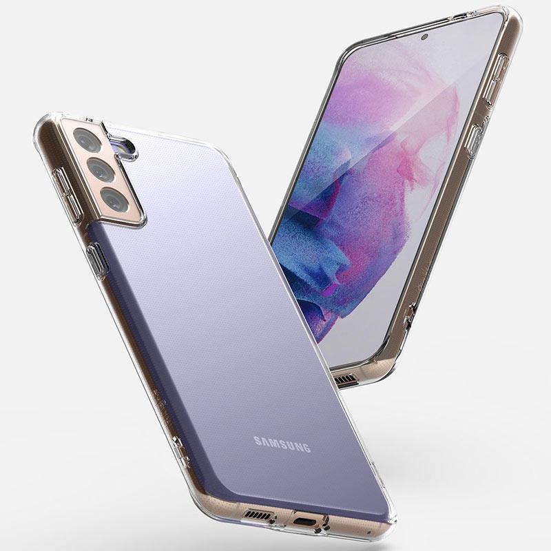 Ultra Tenký kryt na Samsung Galaxy S21 Plus Transparent