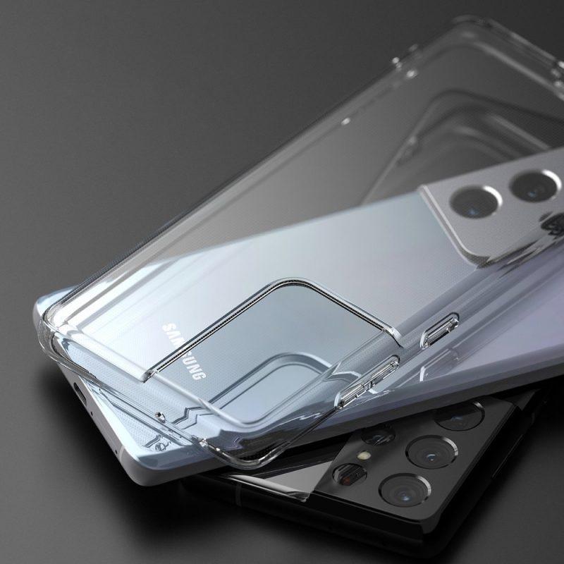 Ultra tenký kryt na Samsung Galaxy S21 Ultra Priehľadný