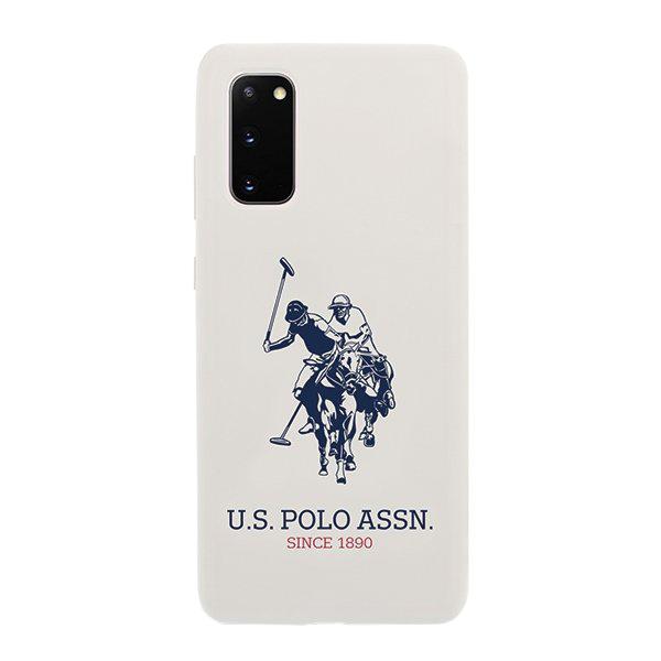 U.S. Polo Silikónový kryt na Samsung Galaxy S20 Biely