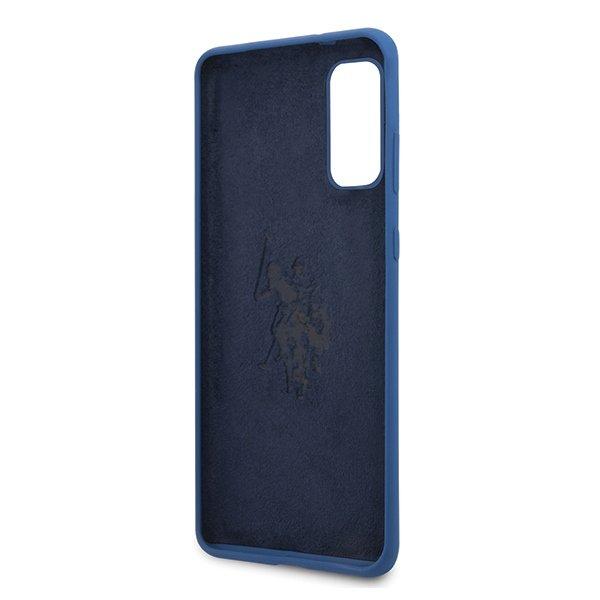 U.S. Polo Silikónový kryt na Samsung Galaxy S20 Modrý