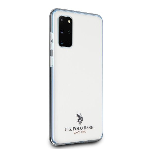U.S. Polo kryt na Samsung Galaxy S20 Plus White Shiny