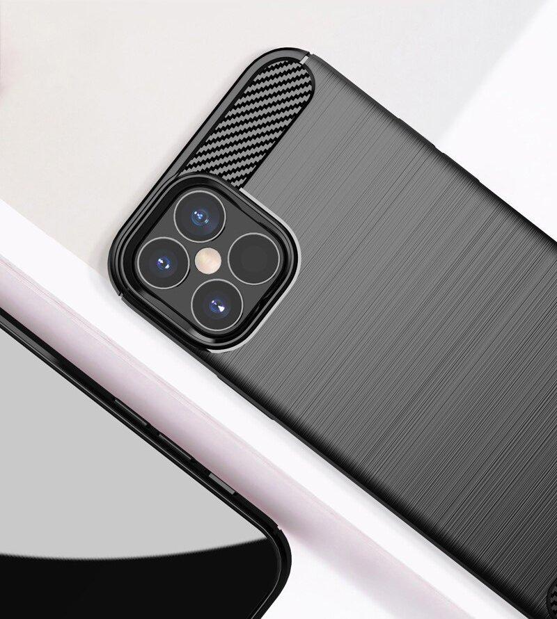 Carbon kryt na iPhone 12 Pro Čierny