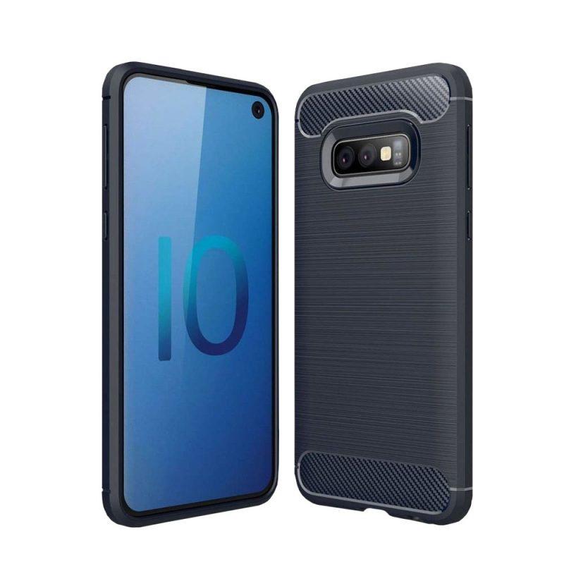 Carbon kryt na Samsung Galaxy S10e Blue