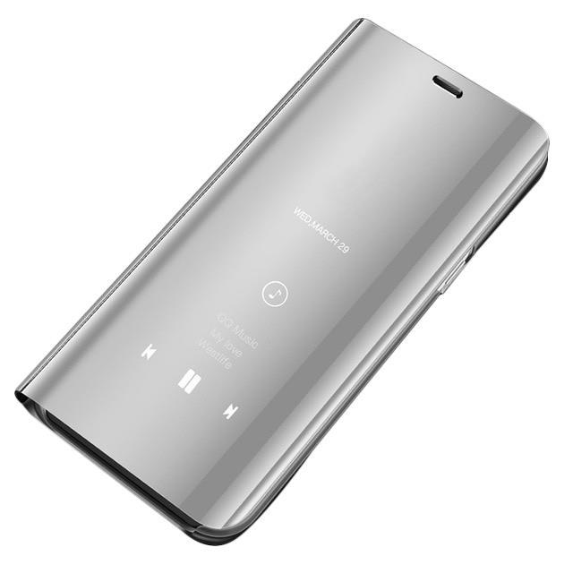 Ochranné Flip puzdro na Huawei P20 Lite Strieborné
