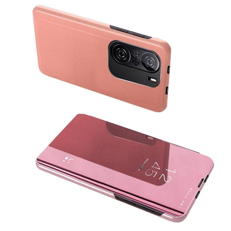 Ochranné Flip puzdro na Xiaomi Poco F3 Ružové