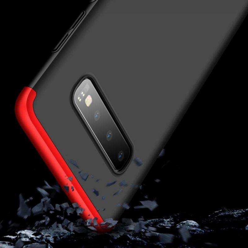 Odolný Full Body kryt na Samsung Galaxy S10 Black-Red