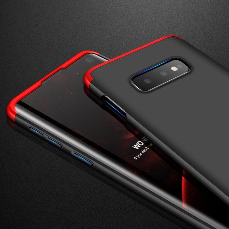 Odolný Full Body kryt na Samsung Galaxy S10e Black-Red
