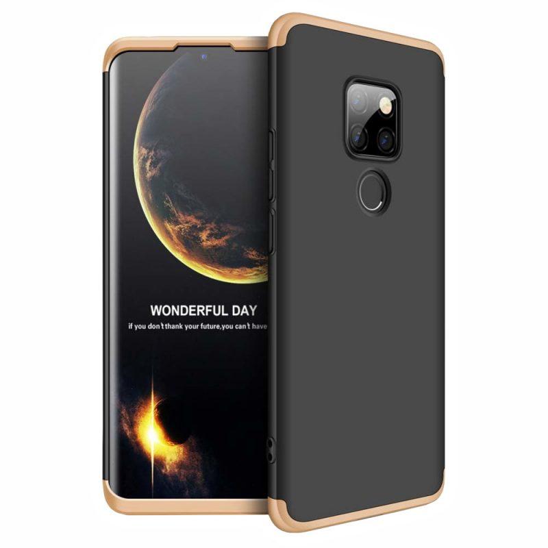 Odolný Full Body kryt na Huawei Mate 20 Black-Gold