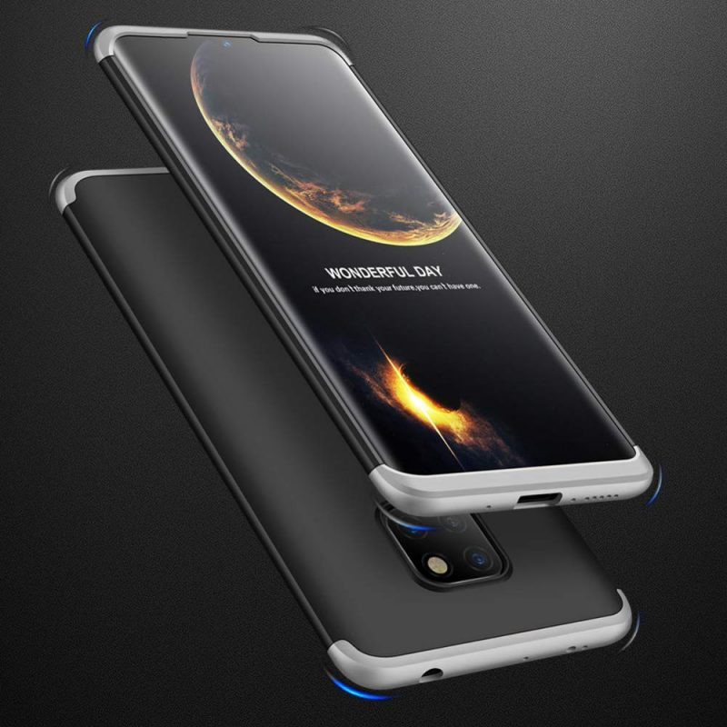 Odolný Full Body kryt na Huawei Mate 20 Black-Silver