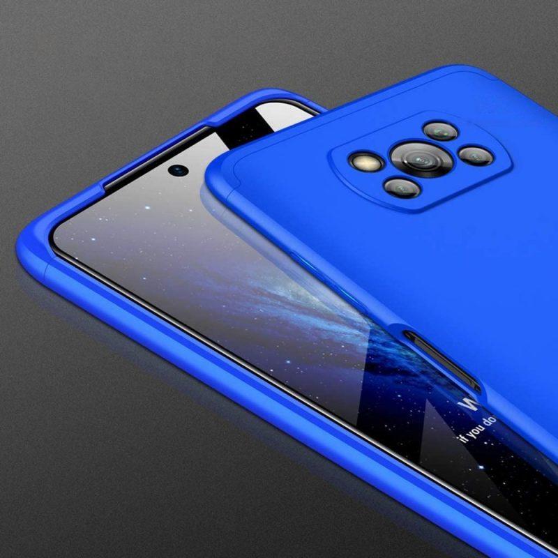 Odolný Full body kryt na Xiaomi Poco X3 Pro/ Poco X3 NFC Blue
