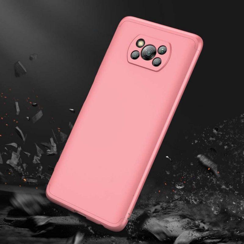 Odolný Full body kryt na Xiaomi Poco X3 Pro/ Poco X3 NFC Pink