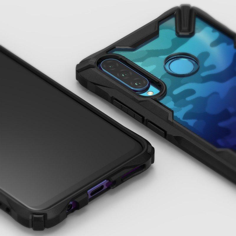 Fusion X Durable kryt na Huawei P30 Lite Camo Black