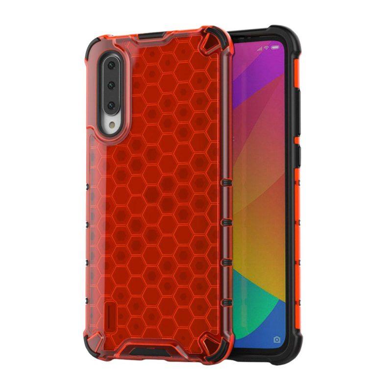 Honeycomb kryt na Xiaomi Mi A3 Červený