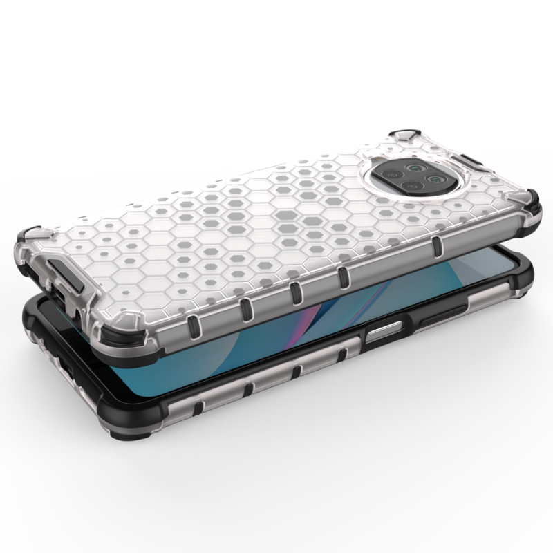 Honeycomb kryt na Xiaomi Mi 10T Lite Transparent