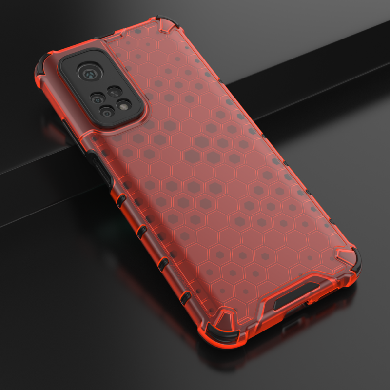 Honeycomb kryt na Xiaomi Mi 10T Pro/ Mi 10T Červený