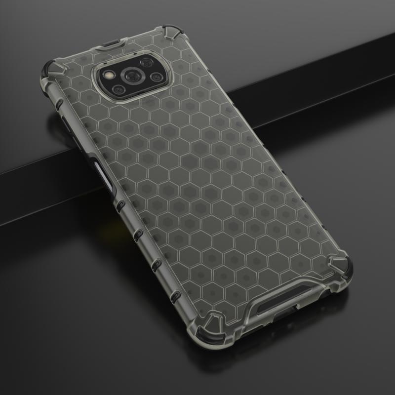 Honeycomb kryt na Xiaomi Poco X3 Pro/ Poco X3 NFC Čierny