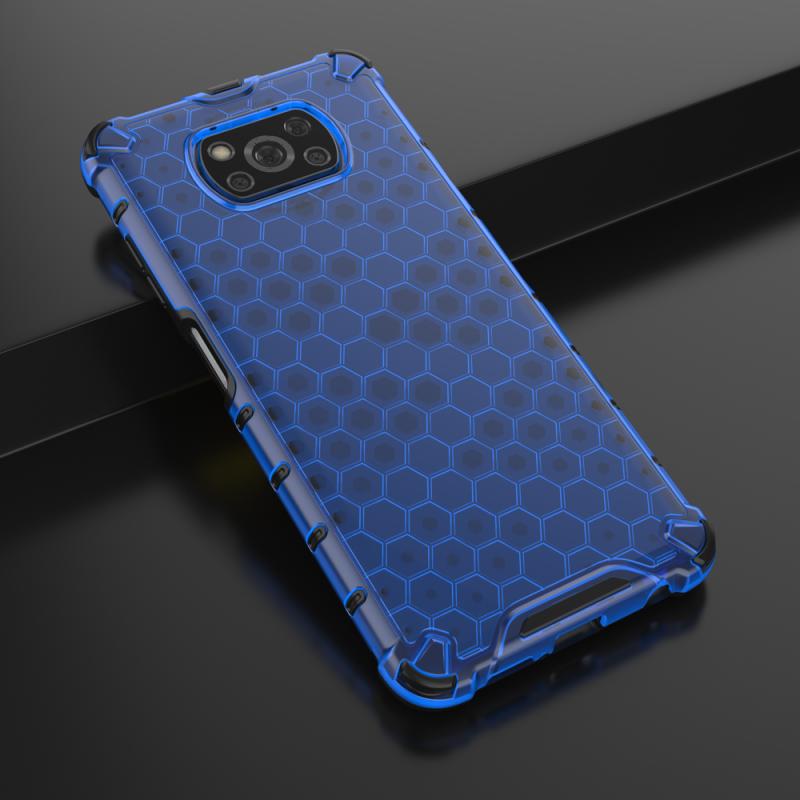 Honeycomb kryt na Xiaomi Poco X3 Pro/ Poco X3 NFC Modrý