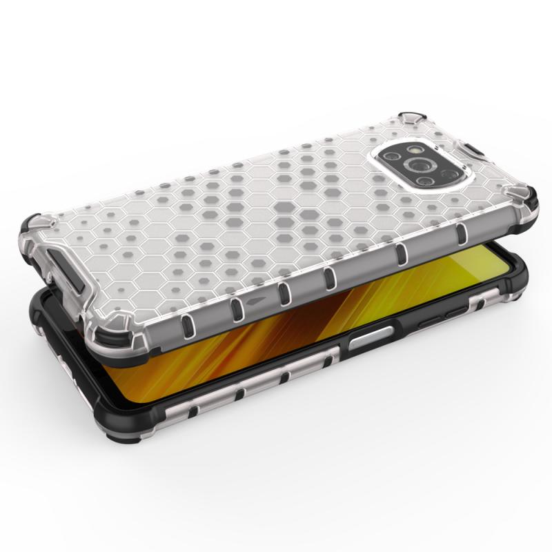 Honeycomb kryt na Xiaomi Poco X3 Pro/ Poco X3 NFC Priehľadný