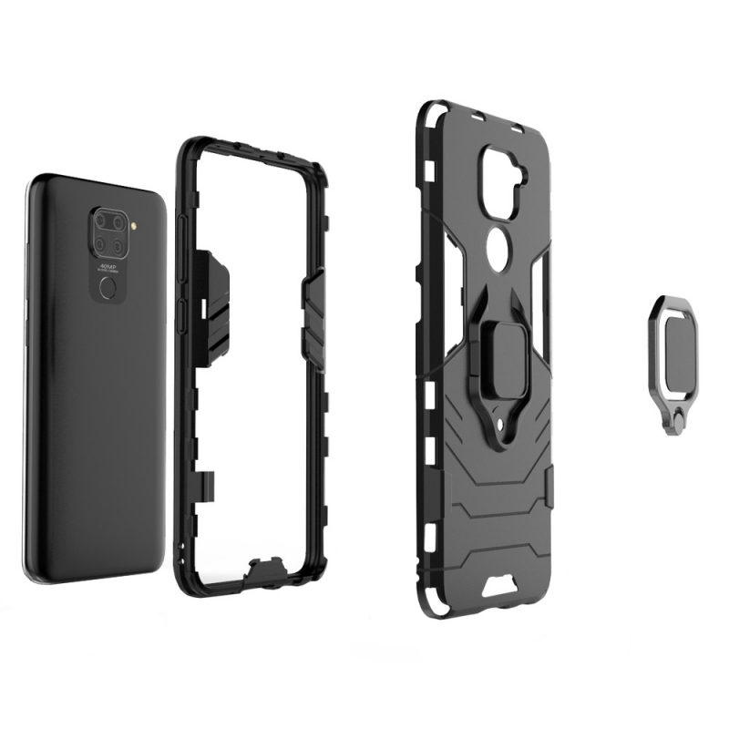 Ring Armor kryt na Xiaomi Redmi Note 9 Black