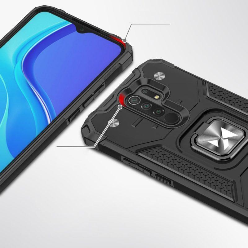 Ring Armor kryt na Xiaomi Redmi 9 Biely